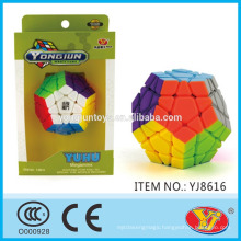2016 new item YJ YongJun Yuhu Megaminx Magic Puzzle Cube Educational Toys English Packing for Promotion